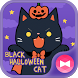 Cute Wallpaper Black Halloween Cat Theme by +HOME by Ateam