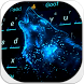 Cool Blue Wolf Keyboard by Keyboard Design Paradise