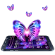 Neon Love Butterfly Theme by Launcher Fantasy