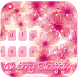 Cherry blossom Keyboard Theme by Fantasy Keyboard studio