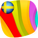 Swedish color word game by german4you