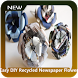 Easy DIY Recycled Newspaper Flower by Holaspica Studio