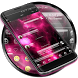 SMS Messages Glass Nebula by Themes Messages Contacts Dialer by Double L