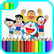 Learn Coloring For Doraemon by coloringdevapps