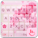 Pink Rose Keyboard Theme by Sexy Apple