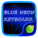 Blue Neon GO Keyboard Theme by GOMO Dev Team