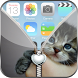 Sweet Kitten Zip Lock Screen by Cool Zipper Lockscreens