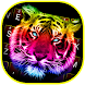 Neon Tiger Theme&Emoji Keyboard by Cool Keyboard Theme Design