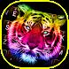 Neon Tiger Theme&Emoji Keyboard