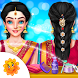 Indian Wedding Bride Hair Do Design And Spa Salon by GameiCreate