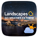 Landscapes GO Weather Widget by GOMO Go