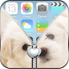 Love Puppy Zipper Lock Screen by Cool Zipper Lockscreens