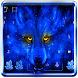 Ice Wolf Keyboard Theme by cool wallpaper
