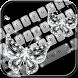 Glitter diamond Keyboard Theme by Fantasy Keyboard studio