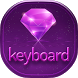 Purple Diamond Sparkle Keyboard Theme by Super Themes HD
