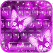 Neon butterfly Keyboard theme by Locker Themes Center