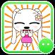 Stickey Cartoon Dog Girl by Awesapp Limited