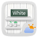 White GO Weather Widget Theme by GOMO Go