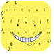 Yellow Cute Smile Keyboard by live wallpaper collection