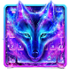 Galaxy Wolf Keyboard Theme