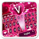 Pink Romantic Rose Keyboard by 7star princess