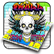 Skull Street Graffiti Keyboard Theme | Young Style by Launcher and Keyboard Theme Design
