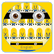 Yellow Cartoon Keyboard by Input theme
