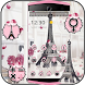 Eiffel Tower Theme Pink Black by Cool Soloto Themes