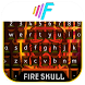Fire Skull Hot Burning Keyboard Theme by Super Themes HD
