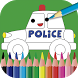 Kids painting & coloring game by AppQuiz