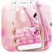 Rose pink paris keyboard by Super Keyboard Theme