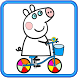 How to color Peppa Pig Adult Coloring Book by color and draw best cartoons in the world