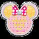 Pink Gold Minny Keyboard Theme