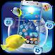 Fish Aquarium Blue Ocean Theme by Me&Art Android Theme Designer