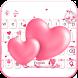 Love Keyboard theme pink love by Locker Themes Center