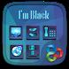 I am black GO Launcher Theme