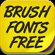 Brush Fonts Free by fontforever