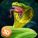 Poisonous Cobra Snake Survival Simulator