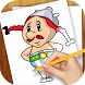 Draw Asterix and Obelix by Simple Art Store
