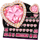 Pink Heart Diamond Keyboard Theme by Echo Keyboard Theme