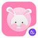 Pink Girl-APUS Launcher theme by FlashTeam