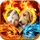 Fire Flame Photo Frames Editor