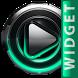 Poweramp skin widget Mint Glow by TapaniLab
