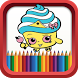 Coloring Book for Shopkins by RIM Coloring