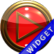 Poweramp Widget Red Gold by Maystarwerk Skins & Widgets Vol.1