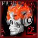 Scull on Fire Go Locker theme by spikerose
