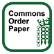 Commons Order Paper by UK Parliament