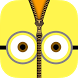 Zipper Lock Screen For Minion by AllGamesHelp