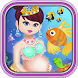 Princess Mermaid Gives Birth by CyberCloudStudios
