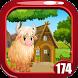 Cute White Yak Rescue Game Kavi - 174 by Kavi Games
